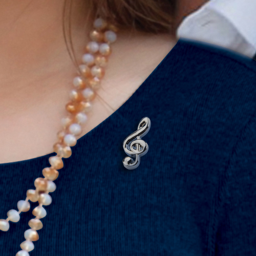 Picture of Treble Clef Pin