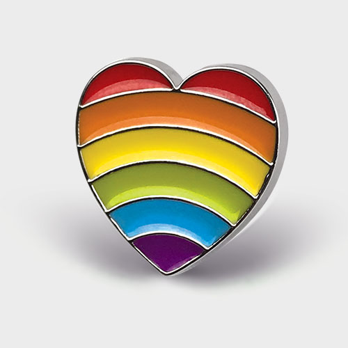 Picture of Rainbow Heart Pin