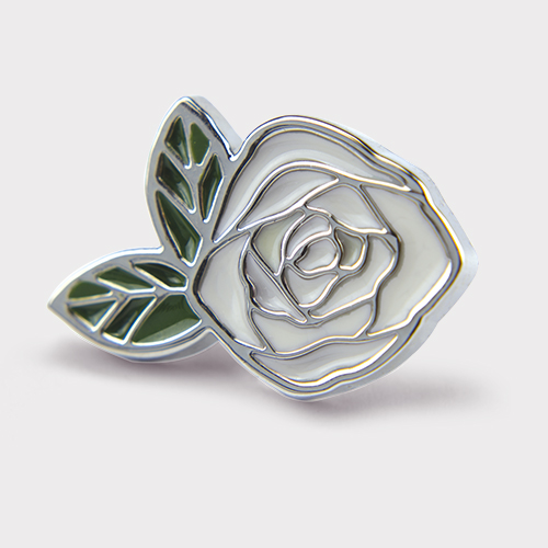 Picture of White Rose Pin