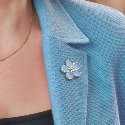 Picture of Forget-Me-Not Flower Pin