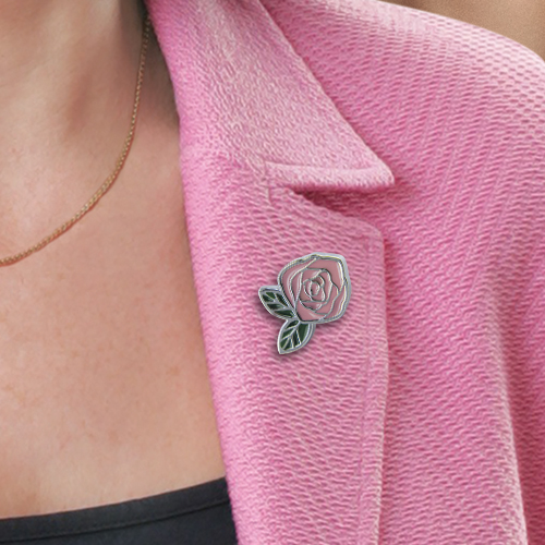 Picture of Pink Rose Pin
